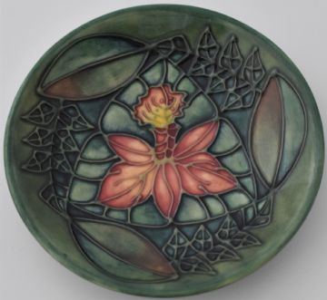 Moorcroft Pottery Rainforest Dish Tray By Sally Tuffin